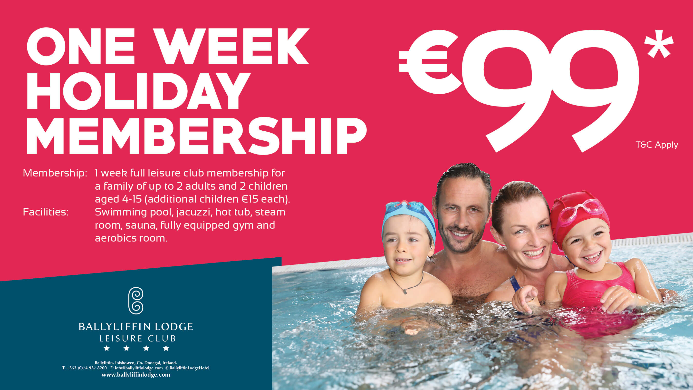 Ballyliffin Lodge - One Week Holiday Leisure Membership