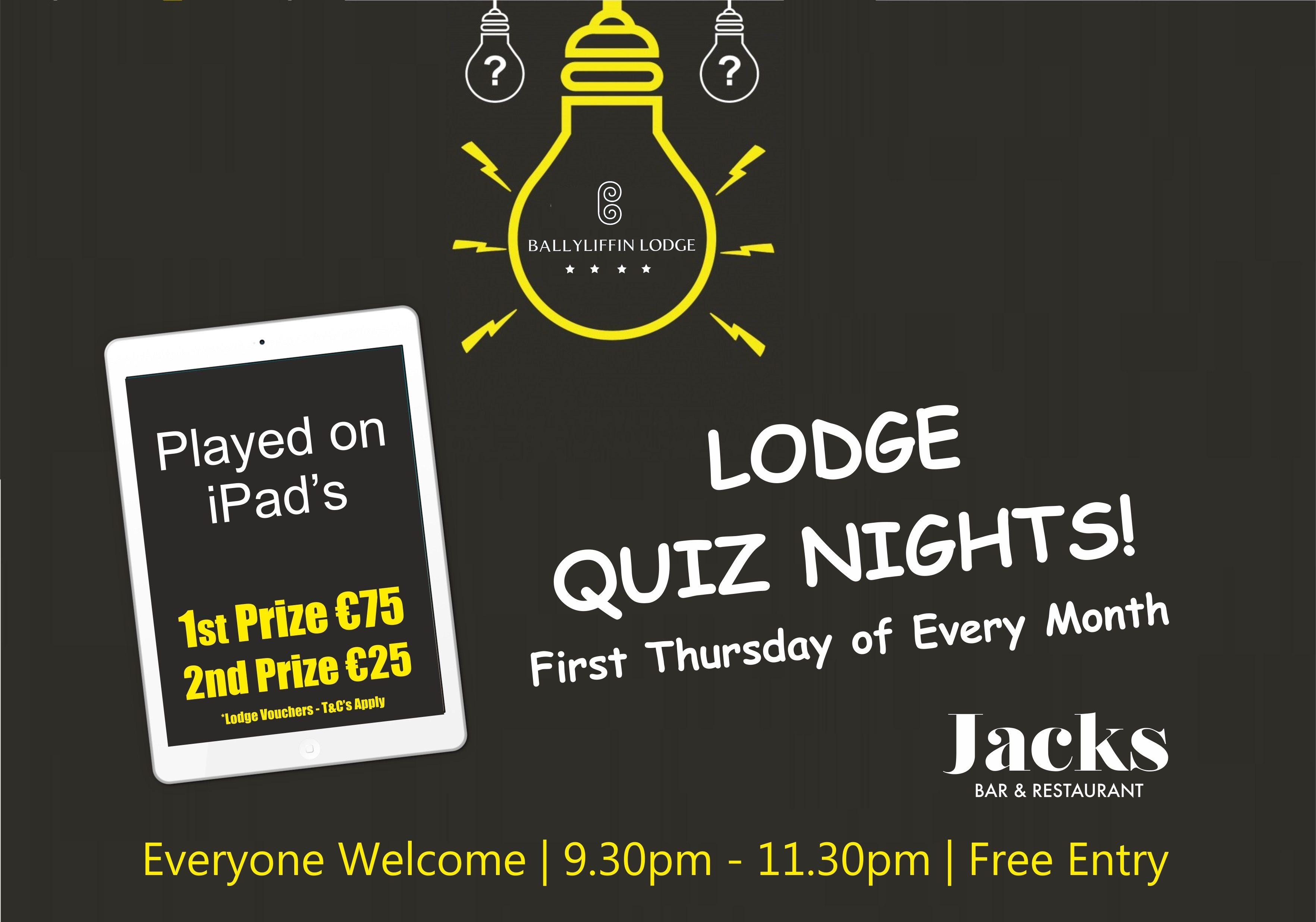 Lodge Quiz Nights